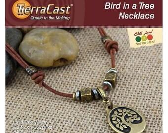 TierraCast DIY Bird in a Tree Necklace Quick Kit