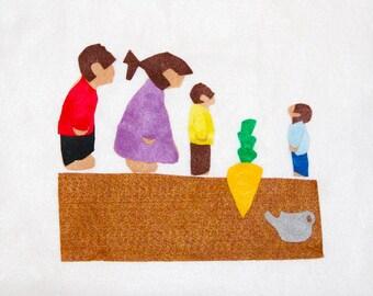 Felt Story - The Carrot Seed - Felt Board Flannel Board - Montessori Waldorf Toys