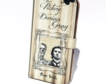 Book phone /iPhone flip Wallet case Picture of Dorian Gray for iPhone X 8 7 6 5, 6 & 7 plus, Samsung Galaxy S9 S8 S7 S6 S5 Note 4 5 7 8 LG
