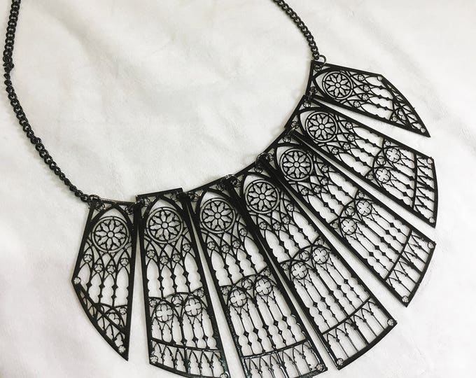 Metal Filigree Jewelery , handmade in italy adjustable 7 piece necklace style cathedral