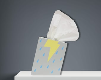 Cloud Burst - Tissue Box Holder