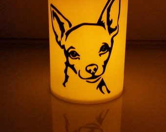 Chihuahua Flameless Candle