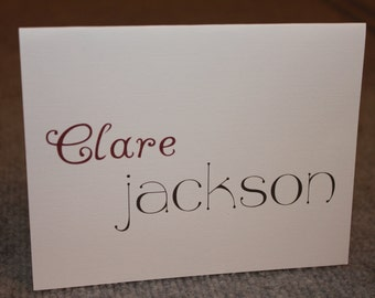 12 personalized notecards