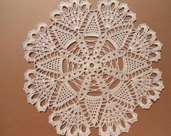 """Ecru crochet doily , lace doily , wedding doilies , 12 """""""
