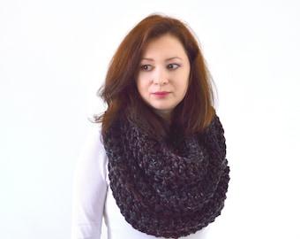 Knit Crochet Chunky Woman Men Infinity Loop Scarf | The Dresden