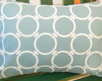 Blue Gray Pillow, COVER Throw Pillow Gray/Blue Links Decorative Couch Pillow Cushion Sofa Bed Pillow Sham Nursery Pillow All SIZES