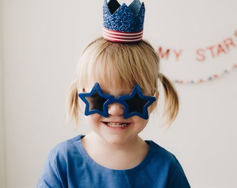 Independence Day Accessory || Red White Blue Hat || Fourth of July Parade Accessory