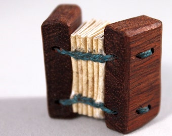 Tiny Hardwood Coptic Book