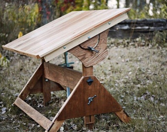 Fully articulating Hardwood Drafting table