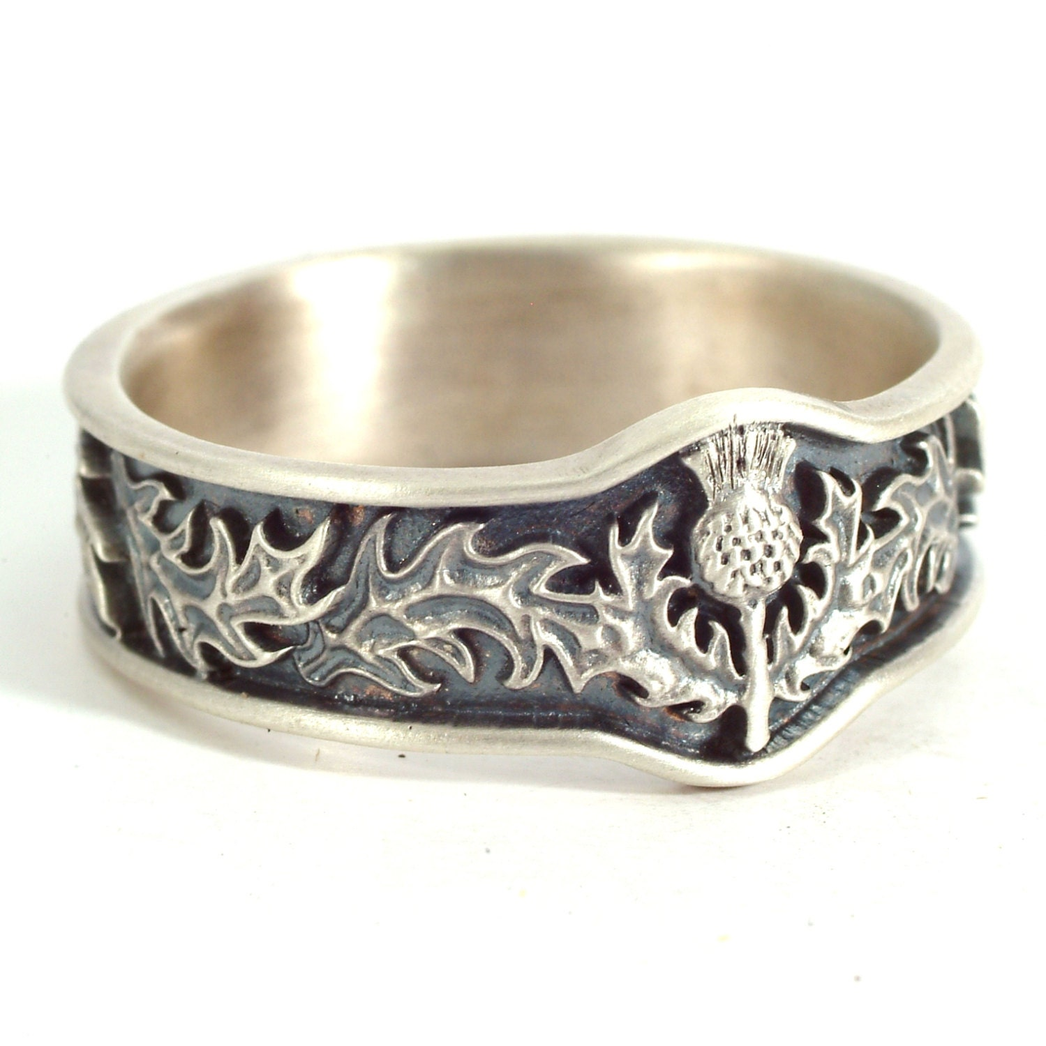 Scottish Thistle Jewelry 925 Sterling Silver Thistle Ring