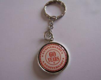 CLEARANCE 60 silver keychain