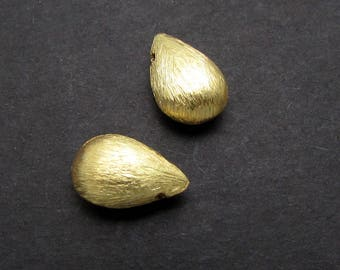 2 Pcs, 9.3mm, 24K Gold Vermeil Bead
