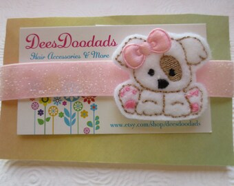 Pretty Little Puppy Headband - Infant  Headband - Party Favor