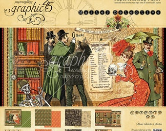 Graphic 45 Master Detective 12x12 Paper Pad, SC007726