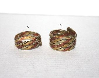Copper ring, Brass ring, Spiral Ring, Tribal Ring, Gypsy Ring, Adjustable ring, yoga ring, meditation ring, Tibetan ring, Nepal ring AR12