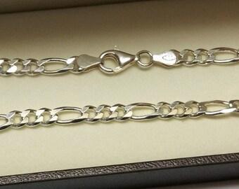Figaro bracelet Silver 925 shiny vintage SA263