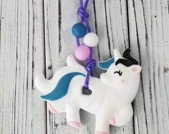 Unicorn KidsToddlers Jewelry Fidget Oral Sensory Chew Necklace Gift For Kids Toddlers