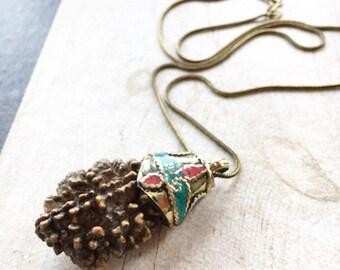 Big Rudraksha pendant, big ethnic look pendant, big seed pendant