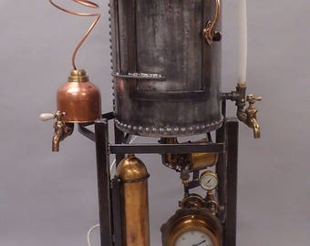 Steampunk Whiskey Still Liquor Cabinet