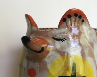 Happy Daydream Red Bear Pot