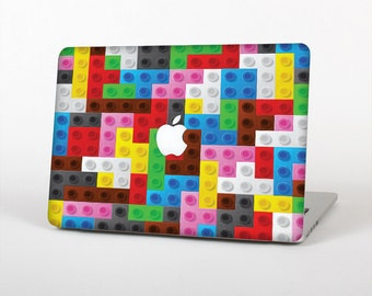 The Neon Colored Building Blocks Skin for the Apple MacBook Air - Pro or Pro with Retina Display (Choose Version)