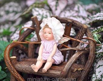 Baby Sweet Pea Fairy for Miniature Garden, Fairy Garden