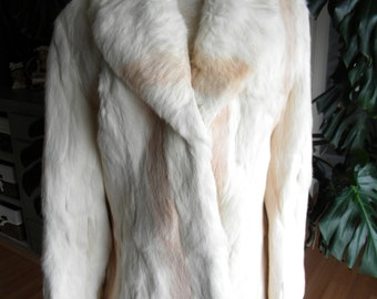 Creamsicle beauty Rabbit fur coat / jacket real fur / women's fur coat / new fur coat / real fur coat
