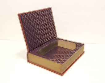 Hollow Book Safe Synonyms Antonyms and Prepositions Funk and Wagnalls vintage cloth bound- book gift box- Secret Compartment