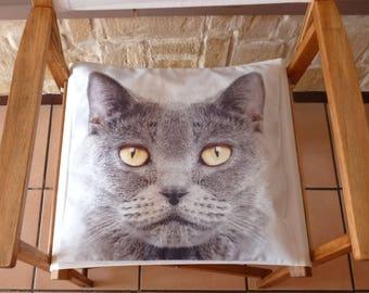 Cat, square cotton Cushion cover