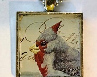 Resin bird pendant