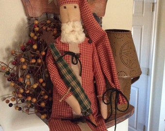 Primitive Folk Art Santa doll