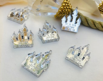 Personalised Fairytale Castle Wedding, Mr & Mrs Table Confetti Decorations. Disney, Cinderella, Church, Castle,