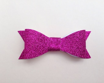 Glitter Bow Tie Hair Bow - Pink Glitter Bow Tie Hair Bow - Red Glitter Bow Tie Hair Bow - Black Glitter Bow Tie Hair Bow