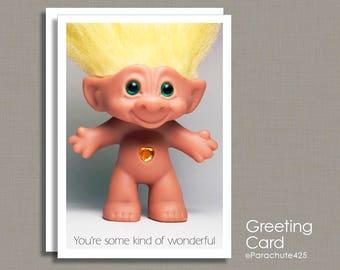 Troll Card, Valentine Card, Boss Card, Thank You Card, Graduation Card, Congratulation, Co Worker Card, card for teacher, coach card