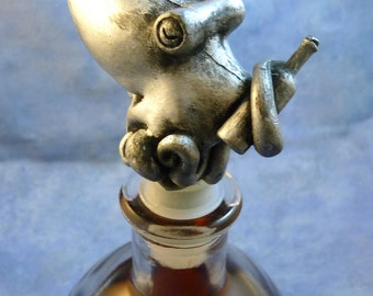 Silver Sommelier of the Sea - Resin Octopus Bottle Stopper