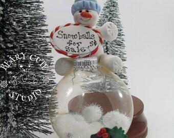 Snowman Ornament, Snowman Christmas Ornament, Unique Snowman ornament