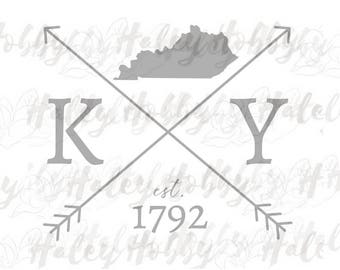 Kentucky Silhouette file shirt DXF SVG cut file silhouette digital file