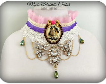 Marie Antoinette Lace Choker Necklace