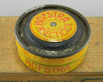 Vintage metal Hofstra Insecticide tin