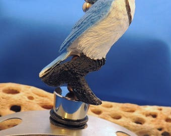 Blue Jay Wine Stopper, Toronto Blue Jays, Gift, Barware, Hostess, stocking stuffer