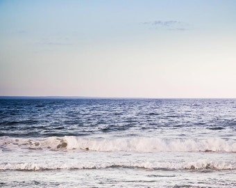 ocean photography beach large photography nautical decor 8x10 11x14 20x30 fine art Photography waves pastel beach art lilac blue gray dreamy