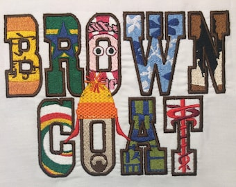 Browncoat Machine Embroidery Design 5x7