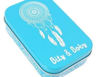 Bits & bobs dreamcatcher metal tin, trinket box, storage, keepsakes