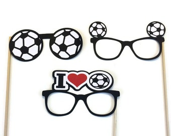 Photo Booth Props-- Soccer Glasses- Photo Booth Prop-Soccer Themed Photo Booth-Pick Your Favorite Sport-Basketball-Volleyball-Tennis-Golf