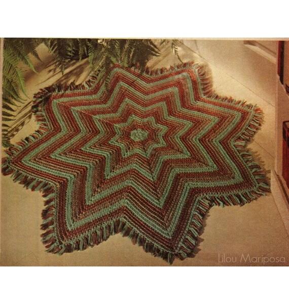 Vintage Effect Rug: CROCHET RUG PATTERN Vintage 70s Crochet Floor Mat Pattern