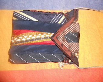 Small bag / pouch made of silk ties