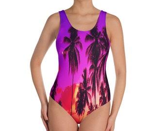 Hawaiian Sunset One-Piece Swimsuit