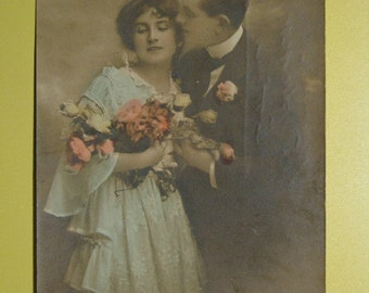 Wedding postcard - upcycled recycled repurposed - erotica photographs