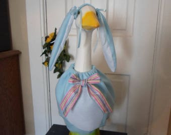 Goose Clothes --- Blue Lop Ear Bunny