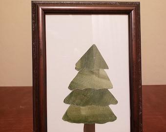 Watercolor Evergreen Tree